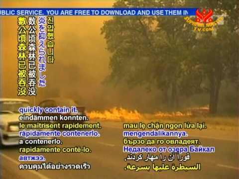 4  3 wildfires raging in Russia's Ulyanovsk region