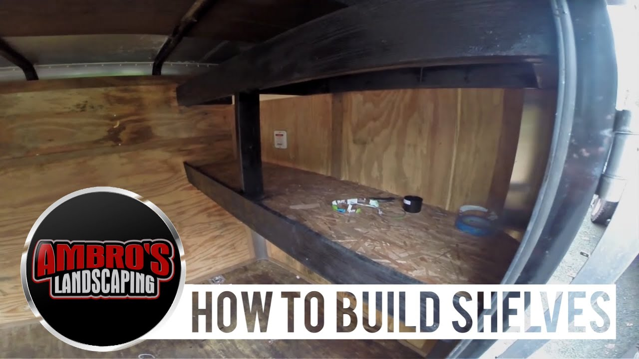 How To Build Shelving In Your Enclosed Trailer Diy Youtube Cargo Mate Utility Wiring Diagram Free Picture