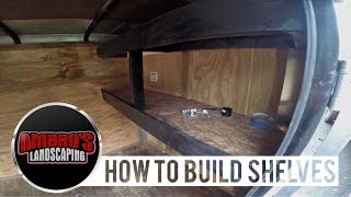 Diy Trailer Shelving | How To Install Shelving In Your Enclosed Trailer