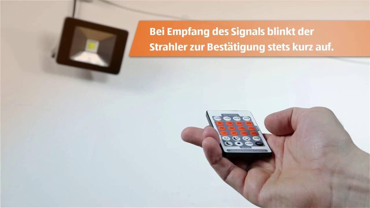 LED Strahler 20W - YouTube
