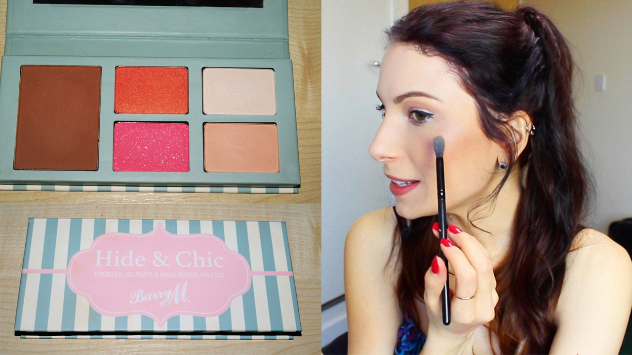 How To Contour And Highlight  Barry M Hide & Chic Palette  Drugstore  Tutorial