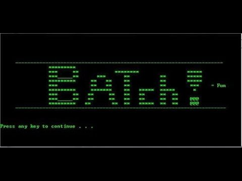 Automating Work with Batch Files