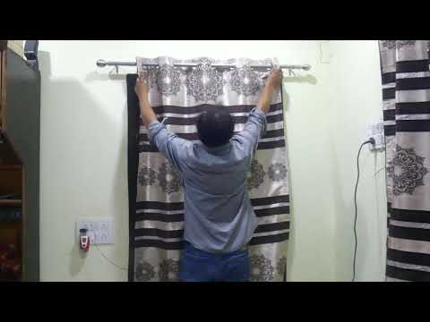 HOW TO FIX CURTAIN RODS & BRACKETS AT HOMEHow-To Hang A Curtain Rod By Eesha Media