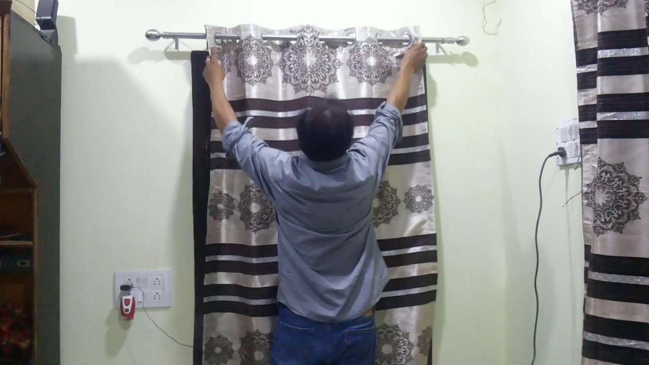 how to fix curtain rods brackets at homehow to hang a curtain rod by eesha media