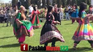 Afghan boys and girls Attan for Dawlat Qarabaghi songs