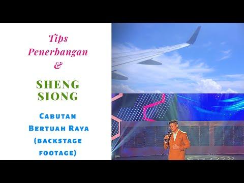 Tips Penerbangan dan (Backstage) Live Sheng Siong Cabutan Raya di Suria TV Singapura