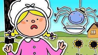 Little Miss Muffet   Nursery rhyme for kids thumbnail