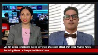 Mohamed El Rashidy on terrorism charges vs hate crimes re London, Ontario on CBC Natasha Fatah.