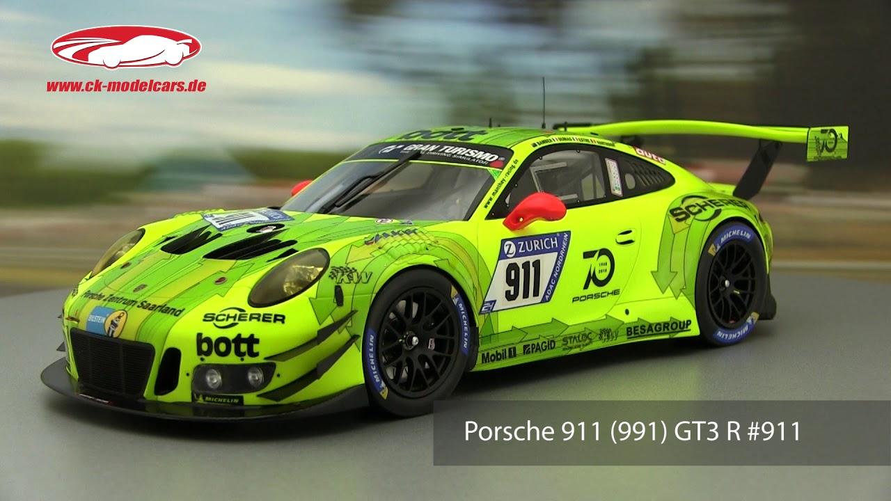 #911-24h Nürburgring 2018 Porsche 911 GT3 R Spark 1:18