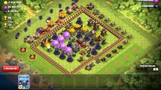 Clash of Clans 150 Tane 5.Seviye P.E.K.K.A ile Savaş Yapmak