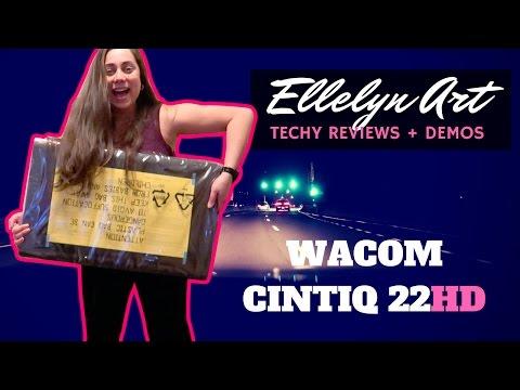 Wacom Cintiq 22HD Unboxing, Review, & Adventure