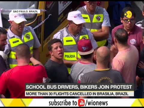 Brazil truckers protest against the high fuel prices in the country