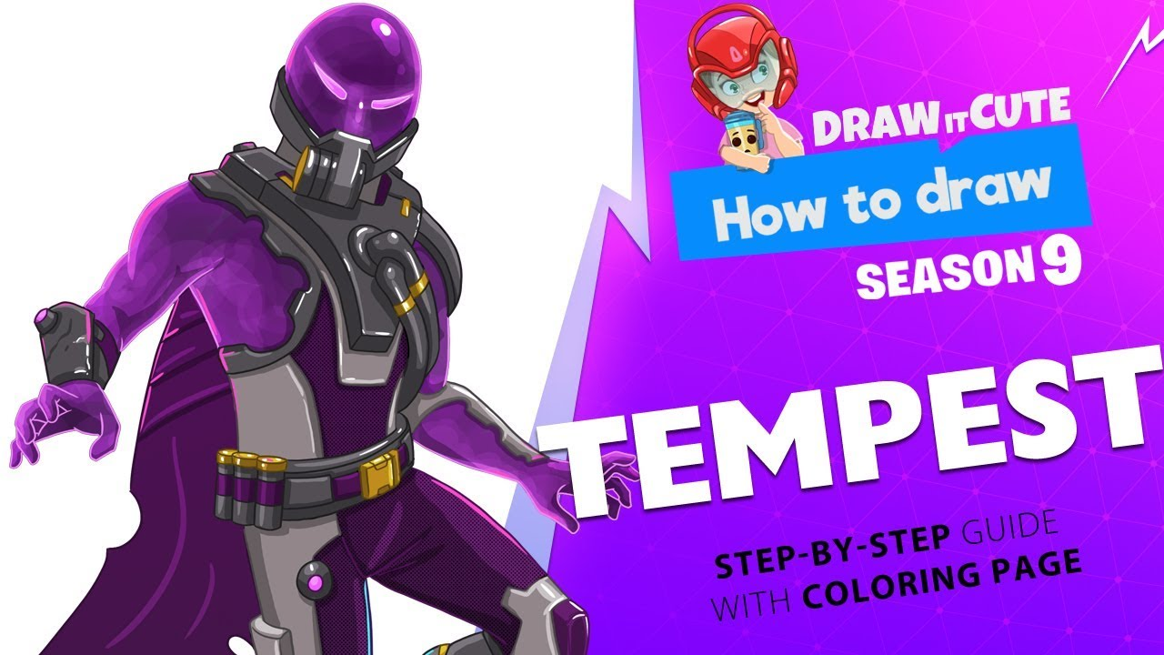 How To Draw Tempest Fortnite Season 9 Step By Step