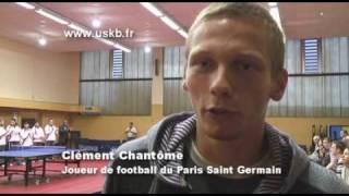 Clément Chantôme du PSG au Kremlin Bicêtre Tennis de Table