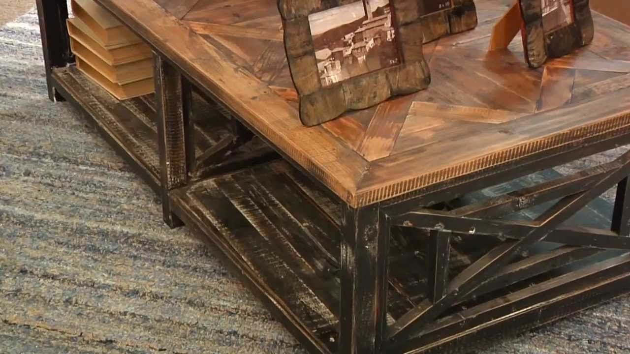 Uttermost 24264 Reclaimed Wood Cocktail Table   YouTube