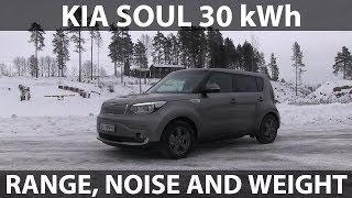 Kia Soul 30 kWh range, noise and weight tests