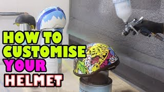 Custom Painted Hydro Dipped Helmet