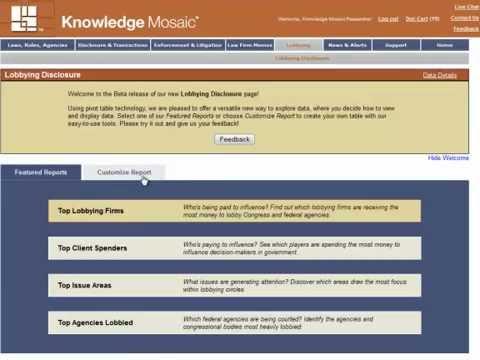 Lobbying Disclosure page tutorial
