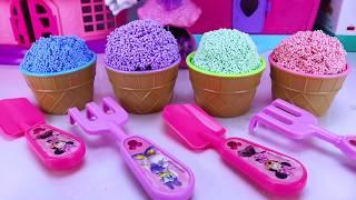 Disney Jr. Minnie Mouse Garden Set with Surprise Foam Ice Cream Surprises