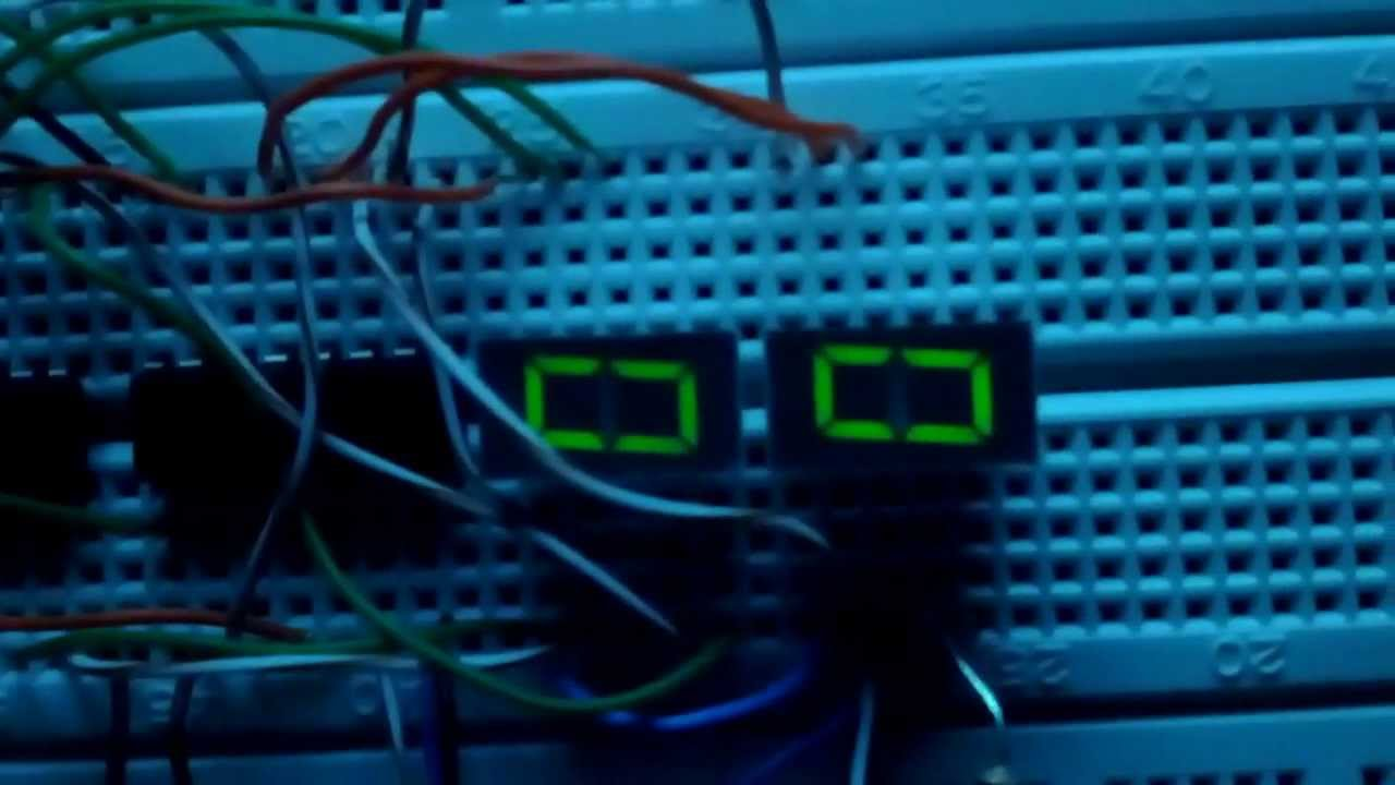 0 to 99 Digital counter circuit diagram using IC 4026 - YouTube