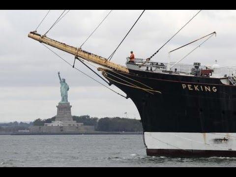 Peking Sail Ship leaves pier16@South Street Seaport NY 09-07-2016