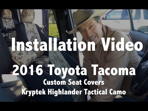 2016 toyota tacoma seat cover installation youtube. Black Bedroom Furniture Sets. Home Design Ideas