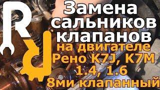Замена сальников клапанов на двигателе Рено 1,4 1,6 8ми клапанный