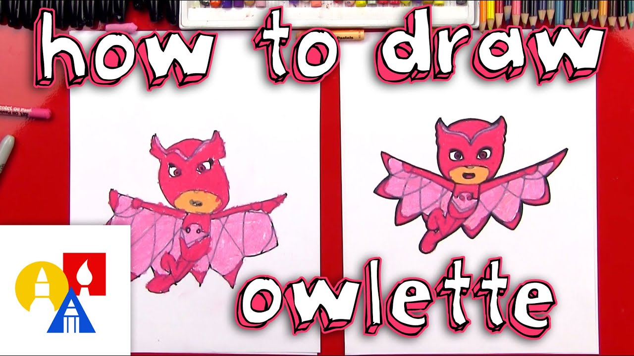How To Draw Owlette From Pj Masks Youtube