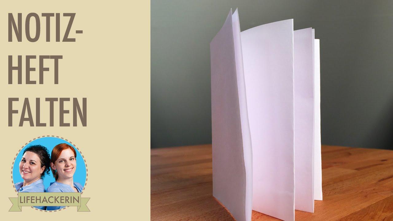 Bevorzugt Heft aus einem einzigen Blatt Papier falten I Origiami I DIY - YouTube MO93