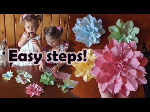 How to make EASY paper flowers that look AMAZING!!!