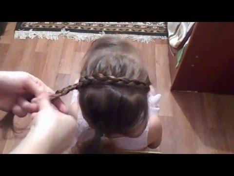 Прическа на средние волосы на каждый день своими руками!
