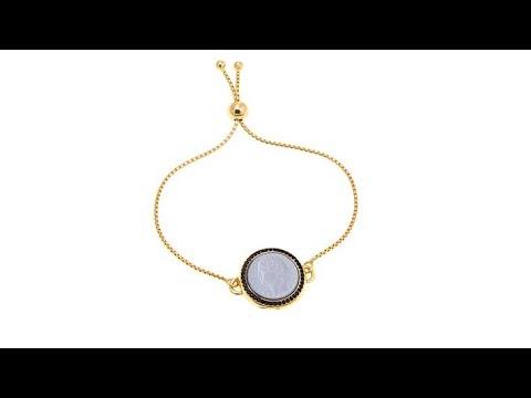 "Bellezza ""Fiabesco"" 100 Lira Coin Black Spinel Bracelet"