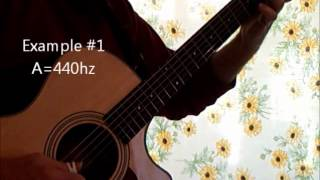 Repeat youtube video 440 hz vs. 432 hz - my guitar experiment