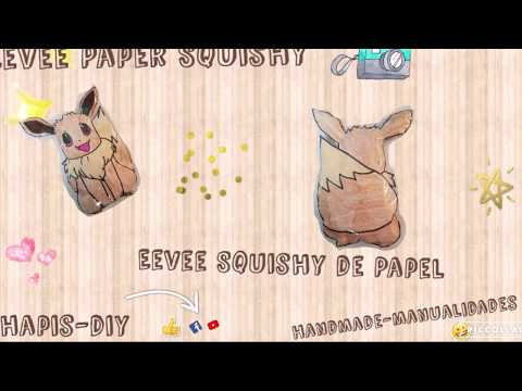 DIY-Pokemon Eevee Squishy Paper/Pokemon eevee Squishy de Papel