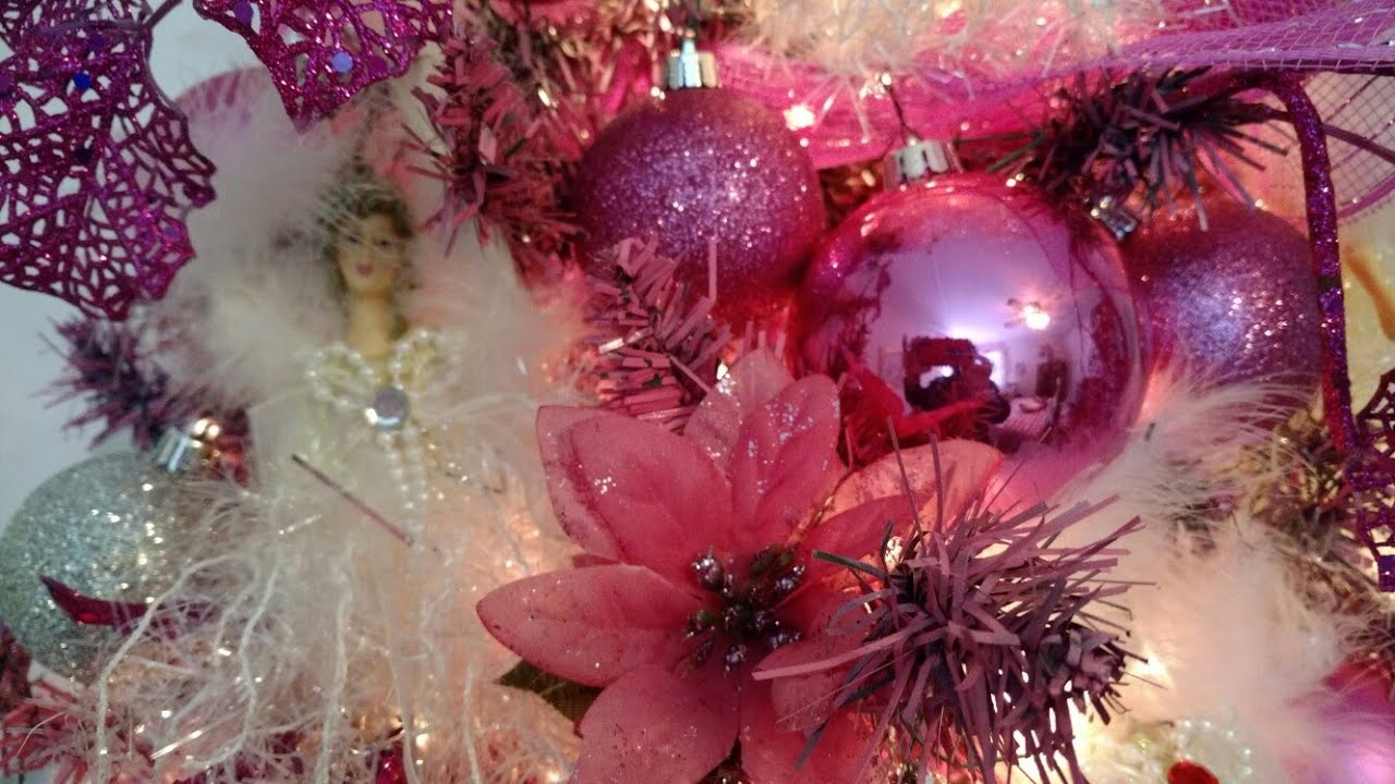 christmas 2017 think pink christmas tree room decor part 3 in series - Pink Christmas Tree