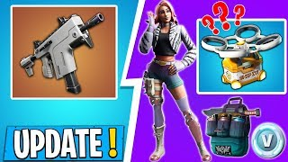 * NEW * Fortnite HUGE Update | NEW WEAPON, STARTER PACK, HOT DROP