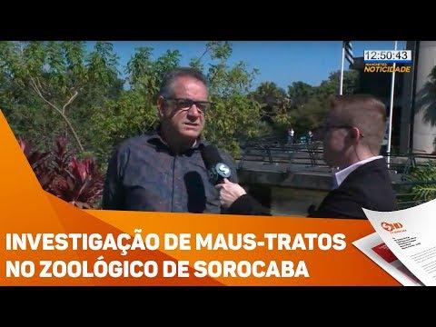 Investigação de maus-tratos no zoológico de Sorocaba - TV SOROCABA/SBT