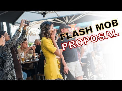 Flash Mob Proposal at Melrose Arch - SOUTH AFRICA
