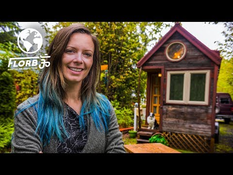 WOMAN lives in a TINY HOUSE so She Can TRAVEL the World