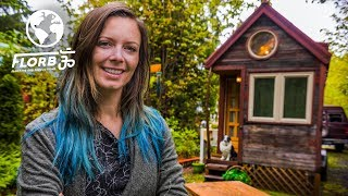 WOMAN lives in a TINY HOUSE so She Can TRAVEL the World thumbnail