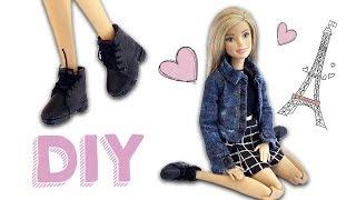 Bota Cano Curto para Bonecas | Como Fazer Sapatos de Boneca Barbie