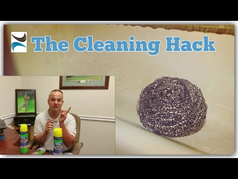 Cool Cleaning Hack for Soap Scum!! test for scratching