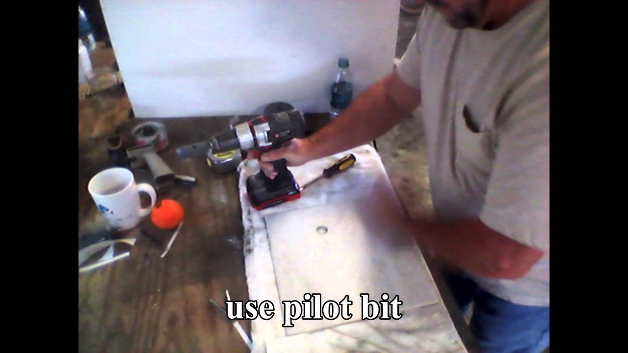 Drilling Holes In Porcelain Tile Youtube