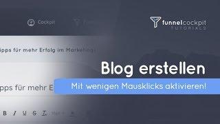 Blog erstellen mit einem Klick! FunnelCockpit.com