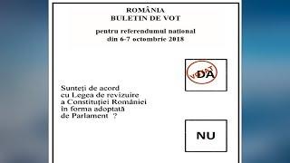 CUM arata BULETINUL de vot ??? Referendum pentru FAMILIE 2018