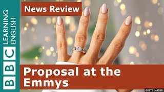 """Will you marry me?"" proposal at the Emmys: BBC News Review"