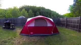 The Coleman Cimmaron Modified Dome Tent Unboxing and Setup