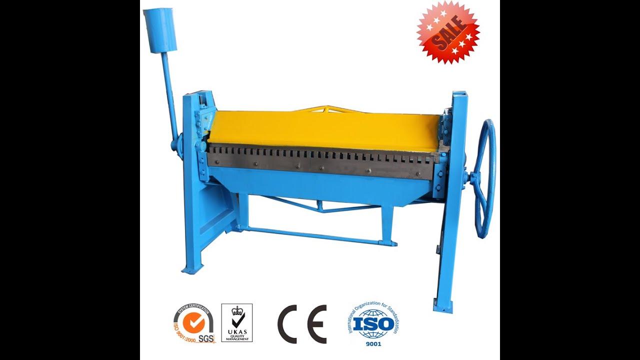 Manual Folder Duct Bending Machine Galvanized Sheet