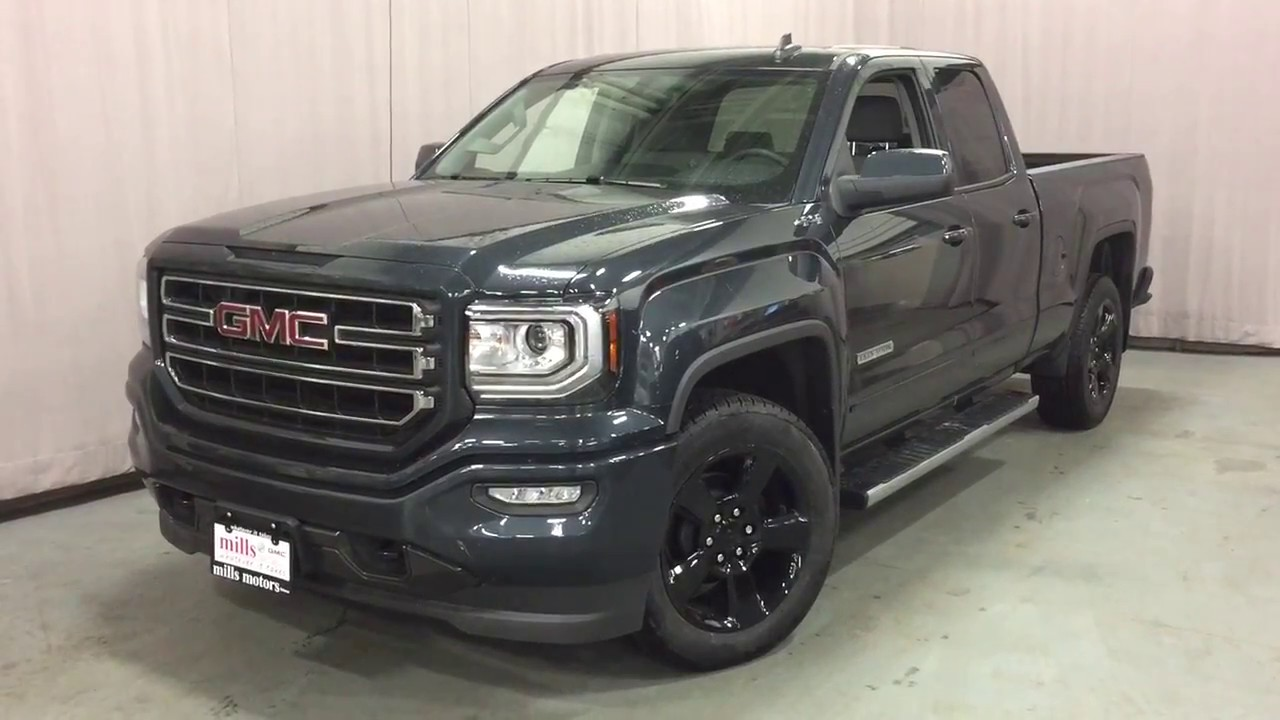 2017 gmc sierra 1500 4wd double cab elevation edition 20 inch wheels black oshawa on stock. Black Bedroom Furniture Sets. Home Design Ideas