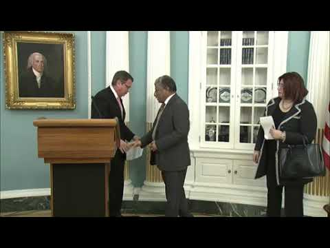 DFN: Signing Ceremony with Under Secretary Steve Goldstein and Libya, DC, UNITED STATES, 02.23.2018